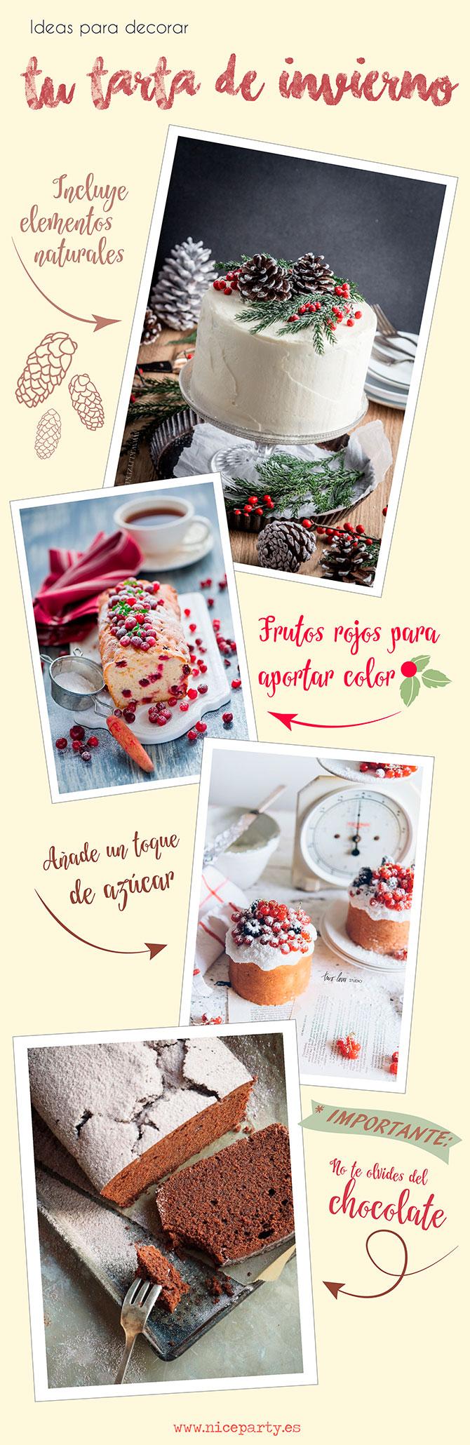 Nice Party ideas para decorar tu tarta de invierno