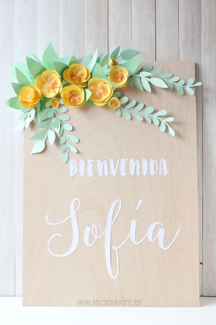 Flores Para Decorar Cartel De Bienvenida