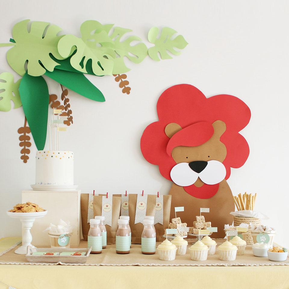 Decoracion Infantil Del Rey Leon ~ Kit de fiesta para imprimir La fiesta del le?n  Niceparty