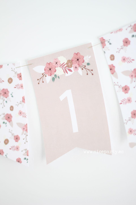 Novedad guirnalda de flores para comuni n niceparty for Guirnaldas para imprimir